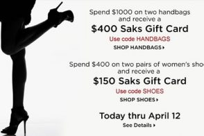 Spend $1,000 – get $400 gift card
