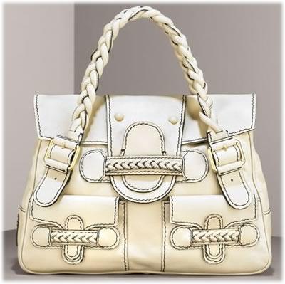 Valentino Braided Leather Shoulder Bag
