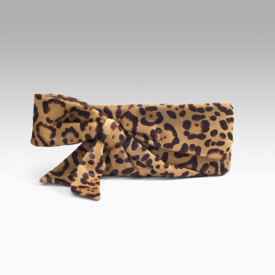 Valentino Leopard Printed Bow Clutch