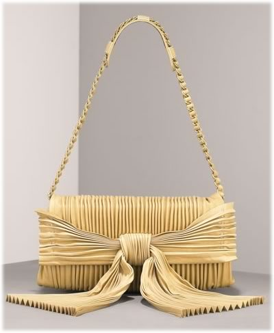 Valentino Pleated Bow Clutch