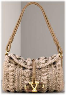 Valentino Cashmere Flap Bag