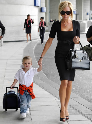 Victoria Beckham and David Beckham with their kids seen visiting Tom Cruise