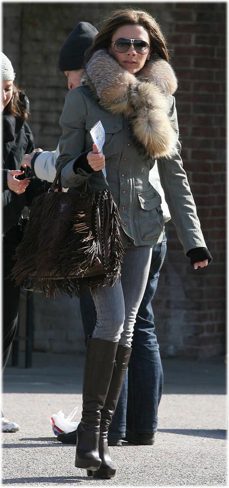Victoria Beckham Prada Fringe Handbag1