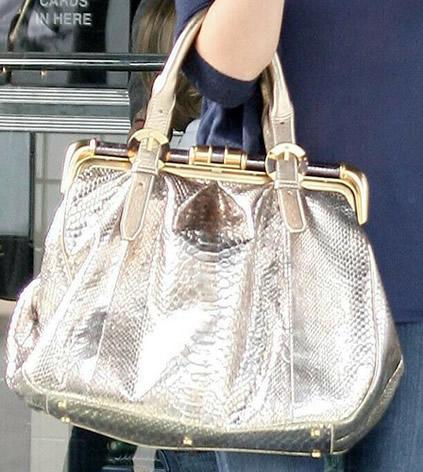 victoria beckham python handbag