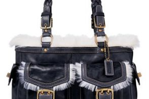 Coach Shearling Gallery Tote