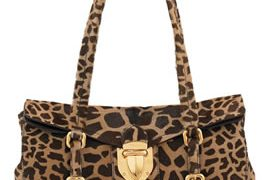 Prada Giraffe-Print Push-Lock Bag