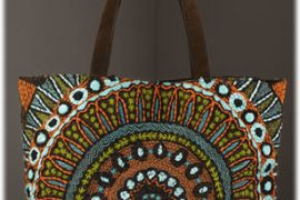 Tory Burch Embroidered Suede Tote
