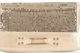 Jimmy Choo Unity Metallic Mesh Wallet