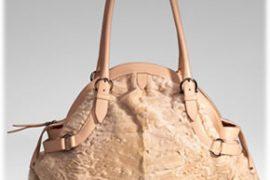Salvatore Ferragamo Llama/Leather Puff Bag