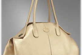Tod's Girelli East/West Bag in White Leather