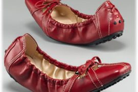 Tod's Smooth Leather Cindy Ballerina Shoes