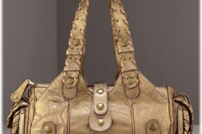 Chloe Metallic Gold Silverado Satchel
