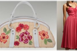 Dior Wicker Frame Bag with Raffia Flowers