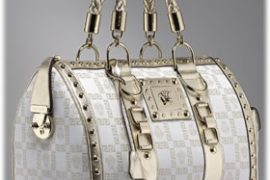 Versace Metallic Monogram Bag