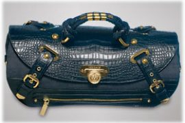 Versace Canyon Medium Denim Croc Bag
