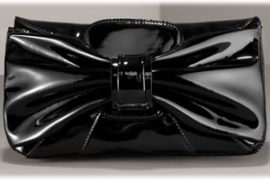Valentino Patent Bow Clutch