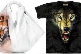 Maison Martin Margiela Airbrushed Wolf Bag
