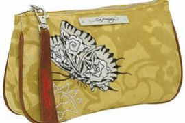 Ed Hardy Lace Lily Clutch