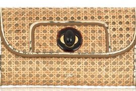Anya Hindmarch Viola Wicker Clutch