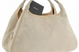 Carlos Falchi Velours Suede East West Tote