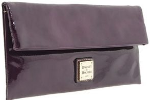 Dooney and Bourke Patent Foldover Clutch