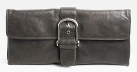 BCBGMAXAZRIA Abigail Leather Clutch