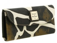 Dooney and Bourke Giraffe Checkbook Clutch