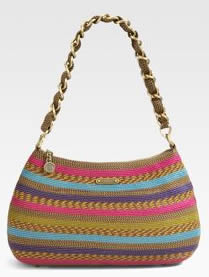 Eric Javits Straw Chain Pouch
