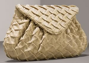 Lauren Merkin Char Pleated Clutch