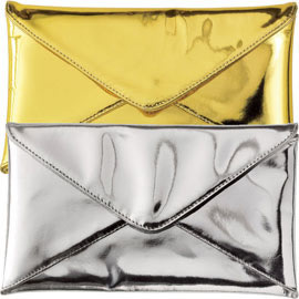 Ted Rossi Mirror Envelope Clutch