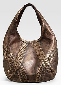 Bottega Veneta Metallic Hobo