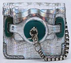 balenciaga-metallic-crocodile-wristlet