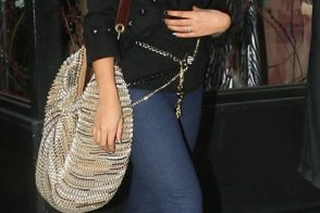 Beyonce with her Diane von Furstenberg Stephanie Bag