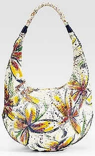 Carlos Falchi Python Floral Sling