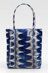 Carlos Falchi Tigersnake Shopping Tote