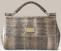 Dolce and Gabbana Miss Sicily Snakesin Bag