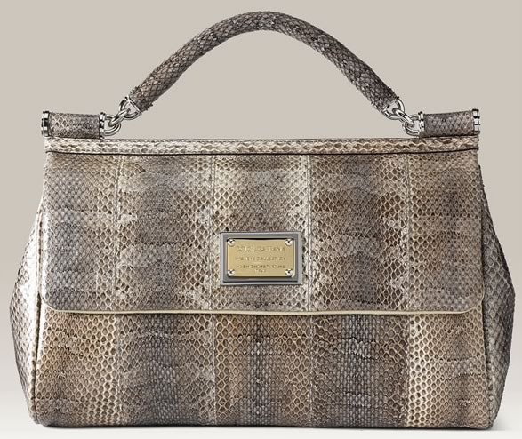 My First Reaction When I Looked At The Dolce Gabanna Miss Sicily Snakeskin Handbag Was That It Didn T Look Anything Like A Gabbana