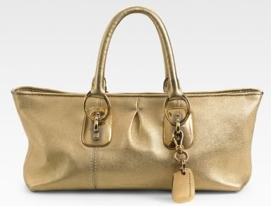 Donna Karan Metallic East West Tote