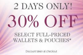 eLuxury: 30% Off Wallets and Pouches!