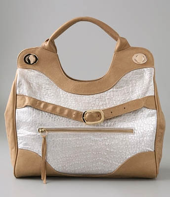 Foley + Corinna Metallic Supple Jet Setter Jr. Tote