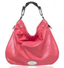 Mulberry Creased Patent Mitzy