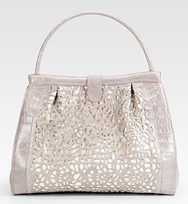 Nancy Gonzalez Crocodile Cutout Satchel