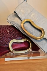 Python Bean Clutches in Fuchsia and Baby Blue