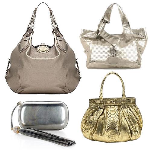 The Find Metallic Handbags Made Marvelous Again