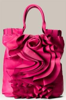 Valentino Rose Vertigo Leather Shopper