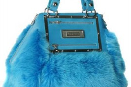 Versace Turquoise Fox Hexagonal Tote