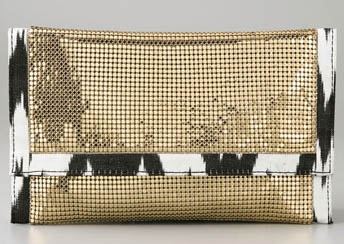 Felix Rey Mesi Clutch with Ikat Trim