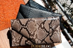Hunting Season Natural Taupe Python Envelope $1790