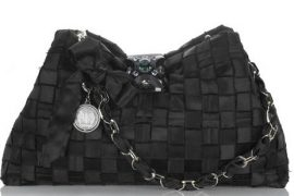 Lanvin Calisson Woven Satin Bag
