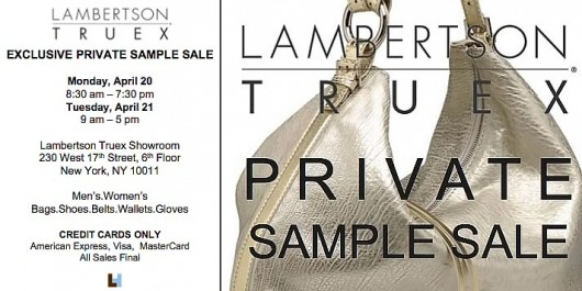 Lambertson Truex Sample Sale